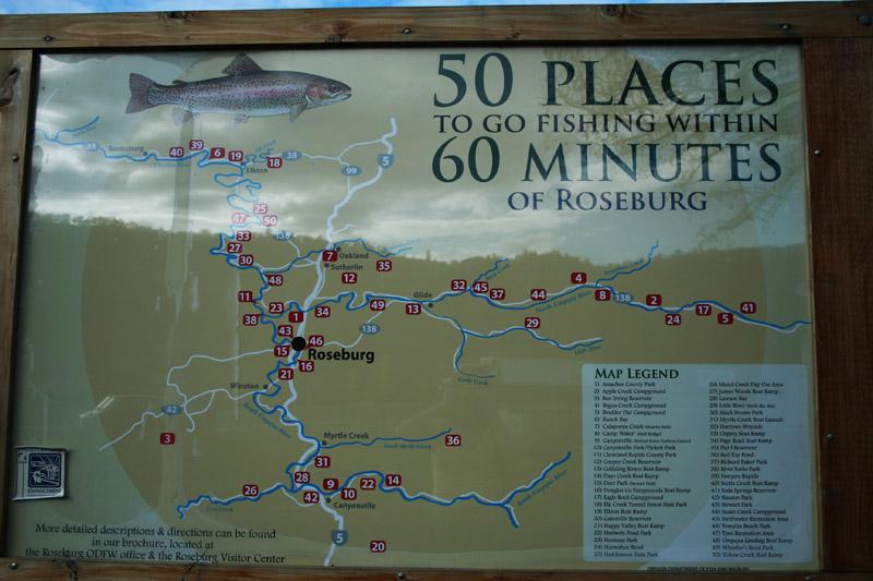 Umpqua River Map Map/ n Umpqua Fishing